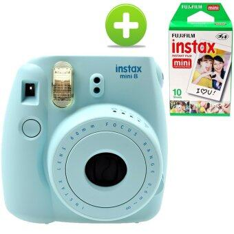 Harga KEEP/Fujifilm Instax Camera Mini 8 (Blue) + Fujifilm Instax Mini Film (sku: 3607 + 1001)