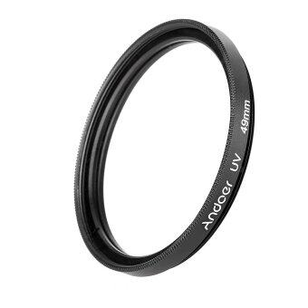 Harga Andoer 49mm UV Ultra-Violet Filter Lens Protector for Canon Nikon DSLR Camera