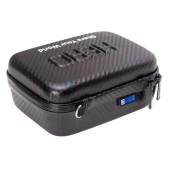 Harga MADPRO Carbon Fiber Design Waterproof Shockproof Gopro Case Portable Bag for Xiaomi Xiaoyi Yi Eken H3R H9 H9R H8R SJ4000 SJ5000 SJ6000 SJ7000 SJ8000 SJ9000 GoPro Hero 5S 5 4 3+ 3 2 1 Action Camera