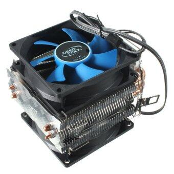 Harga Dual Fan CPU MIni Cooler Heatsink for Intel LGA775/1156/1155 AMD AM2/AM2+/AM3