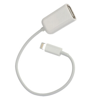 Harga Lightning 8 Pin Male to USB Female Data & Charging Cable for iPad Mini (White) (15cm)