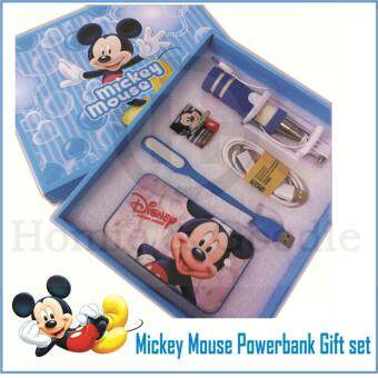 Harga Mickey Mouse PowerBank/ Power Bank 8800mAh / 5 pcs Gift Set