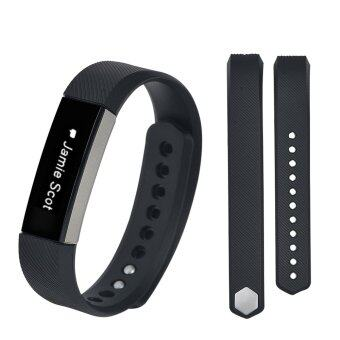 Harga Large Size Silicone Watch band Wrist Strap For Fitbit Alta- (black)(no Activity and Sleep)