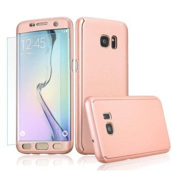 Harga 360 Full Body Coverage Protection Hard Slim Ultra-thin Hybrid Case Cover with Tempered Glass Screen Protector for Samsung Galaxy S5 (Rose Gold)
