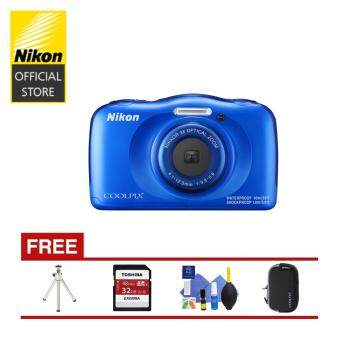 Harga Nikon Coolpix W100 Digital Camera (Blue)