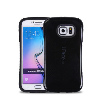 Harga iFace Heavy-Duty Shockproof Hard TPU Case for Samsung Galaxy S6 Edge Plus (Black)