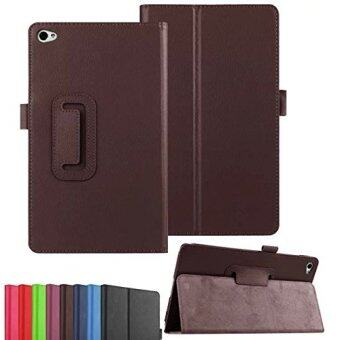 Harga For Huawei MediaPad M2 8.0 Case, PU Leather Folio 2-folding Stand Cover with Stylus Holder for 8 Huawei MediaPad M2 8.0 M2-801L M2-801W Android Tablet (2-Fold-brown)