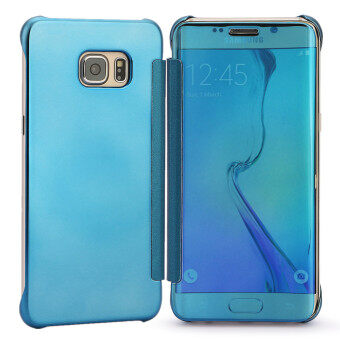 Harga TKOOFN Mirror Pure Color Case Cover For Samsung Galaxy S7 edge(Blue)