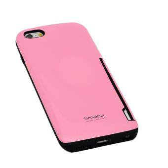Harga iFace Phone Case Card Holder Candy Color PC Soft TPU Heavy Full Protect Back Cover for iPhone 6 6S Plus