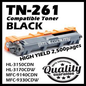 Harga Compatible Colour Laser Toner Brother TN-261 / TN261 Black Toner Cartridge For Brother DCP-9020cdw / MFC-9130cw / MFC-9140cdn / MFC-9330cdw / MFC-9340cdw / HL-3140cw / HL-3150cdn / HL-3150cdw / HL-3170cdw Printer