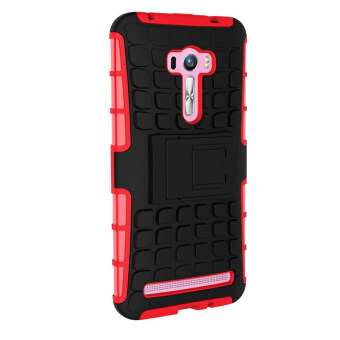 Harga Moonmini Shockproof Hybrid Combo High Impact Rugged Case for ASUS Zenfone Selfie ZD551KL (Red)