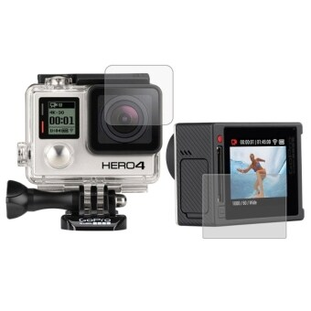 Harga MADPRO Ultra Clear LCD Screen Protector + Housing Glass Lens Protector Film for GoPro HERO4 Silver Camera