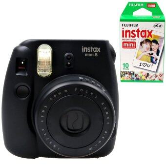 Harga KEEP/Fujifilm Instax Camera Mini 8 (Black) + Fujifilm Instax Mini Film (sku: 3608 + 1001)