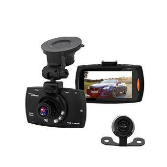 Harga Car DVR Camera Dash Cam Video 2.8 LCD wf Reverse Cam Car Cam Recorder