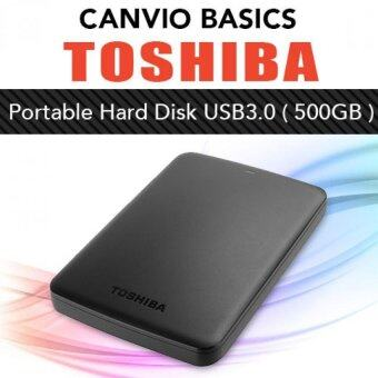 Harga Toshiba HDD CANVIO Basics Portable External Hard Disk Drive USB 3.0 (500GB) Black