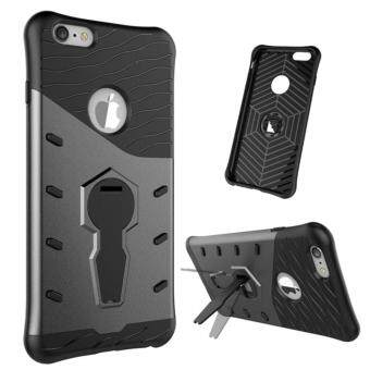 Harga Heavy Duty Shockproof Dual Layer Hybrid Armor Defender Full Body Protective Cover with 360 Degree Rotating Kickstand Case for Apple iPhone 6 Plus / 6s Plus