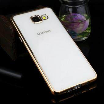 Harga TPU Chrome Bumper Case for Samsung Galaxy A7 2017 (Gold)