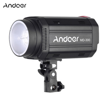 Harga Andoer MD-300 300WS GN58 Studio Photo Strobe Flash Photography Light with 50W Modeling Lamp