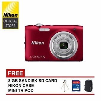 Harga Nikon Coolopix A100 Digital Camera (Red)