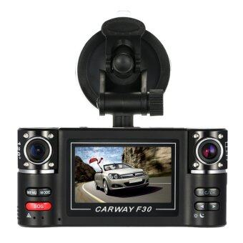 Harga HD Dual Lens Car DVR Dash Dashboard Car Camera IR DVR with Night Vision and Recorder