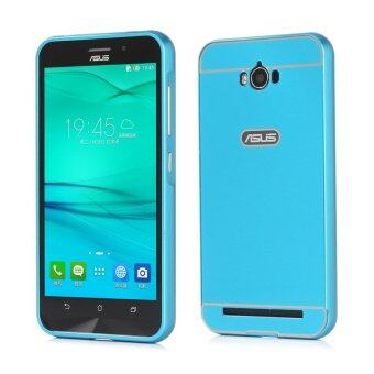 Harga Moonmini PC Back Cover Metal Bumper Frame Case for Asus ZenFone Max ZC550KL (Blue)