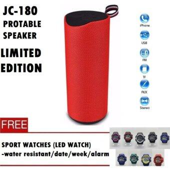 Harga Speaker Protable Wireless (LIMITED EDITION) JC180 - Built in Mic/Speaker Phone Function/Memory card/Bluetooth (NEW MODEL) + FREE Sportwatches (Special Offer) Fast Delivery!!