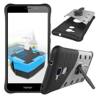 Harga Heavy Duty Shockproof Dual Layer Hybrid Armor Defender Full Body Protective Cover with 360 Degree Rotating Kickstand Case for Huawei Honor 5C