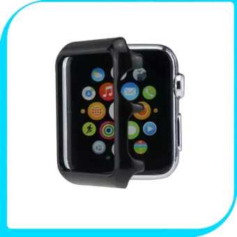 Harga Moonmini Case for Apple Watch 42mm (Black) Hard PC Snap-on Case Cover Skin Shell Protector