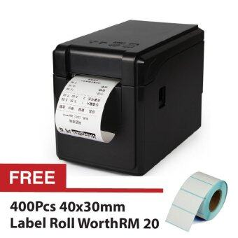 Harga GPRINTER 2 in 1 GP2120TF Label Barcode Printer Thermal 58mm Clothing Receipt Roll + Free 400pcs 4030 Labell Roll