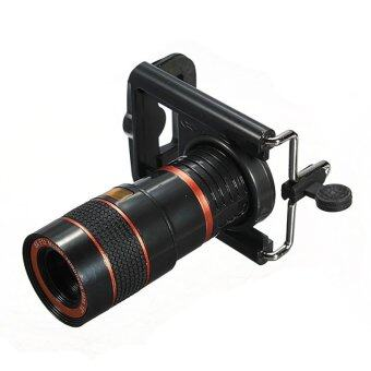 Harga Universal 8X Long Focal Lens Telescope For Mobile Phone Camera (Black) - Intl