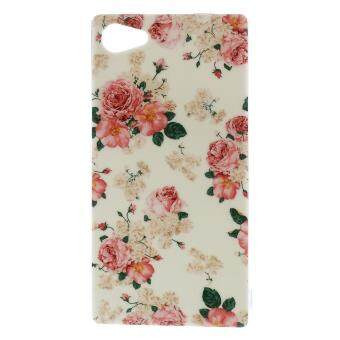 Harga TPU Back Phone Case for Sony Xperia Z5 Compact - Blooming Roses