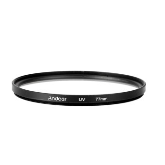 Harga Andoer 77mm UV Ultra-Violet Filter Lens Protector for Canon Nikon DSLR Camera