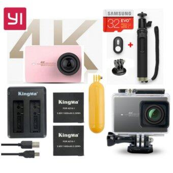 Harga (Genuine) Xiaomi XiaoYi Yi 4K 12MP Sport Action Camera International Version Ultimate Bundle Pack - ROSE GOLD