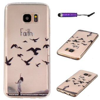 Harga Moonmini TPU Faith Back Case for Samsung Galaxy S7 Edge (Multicolor)