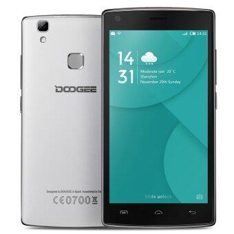 "Harga DOOGEE X5 MAX Smartphone 3G 5.0"" IPS HD Android 6.0 1G+8G 8MP+8MP Fingerprint Unlock Smart Gesture (White) - Intl"