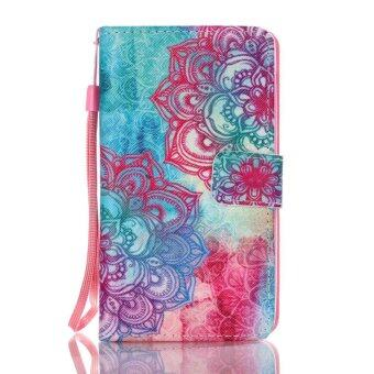 Harga Moonmini Totem Flower Flip Cover Leather Case for Lenovo A536