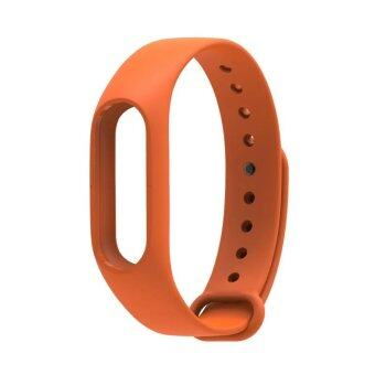 Harga Original Mijobs Replace Silicon Strap For Xiaomi Mi Band 2 Replaceable Belt For MiBand 2 – Orange