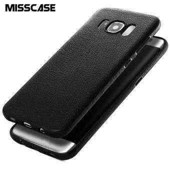 Harga MISSCASE silicone soft phone case for Samsung Galaxy S8 plus with Leather texture