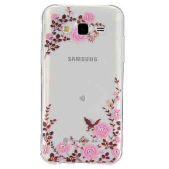 Harga Embossment Gel TPU Cover for Samsung Galaxy J5 SM-J500F (Blooming Flowers)