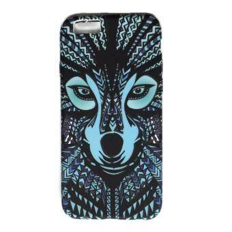 Harga Lion Tiger Wolf Owl Doodle Face Silicone Case Luminous Glow in the Dark Soft TPU Cover for Apple Iphone 6G/ 6S