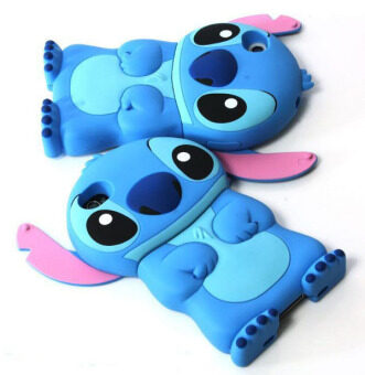 Harga 86Hero 3D Stitch Movable Ear Flip Hard Back Case Cover for Apple iPhone 4S 4G blue