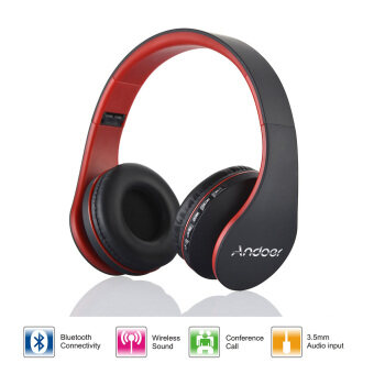 Harga Andoer LH-811 Digital Wireless Bluetooth Headphone (Red)