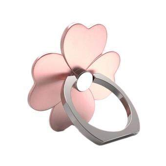 Harga Cartoon Clover 360 Degree Mobile Finger Phone Stand for iphone ipad HUAWEI Xiaomi Universal Ring Hook Bracket (2 Pieces)