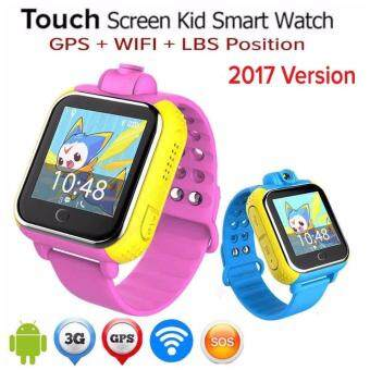 Harga WIFI/3G/2G/GPS Children Kid Smart Watch Wrist Pedometer Tracker Pink Color Camera SmartWatch(Blue)