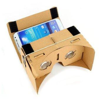 Harga Google Cardboard VR 3D Glasses Android iOS Phone Virtual Reality Kit (With NFC Support)