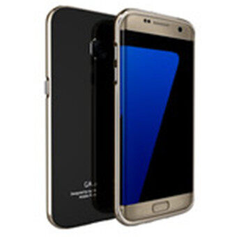 Harga Luphie Aluminum Metal Frame + Tempered Glass Back Cover Case For Samsung Galaxy S7 Edge (Black+Gold)