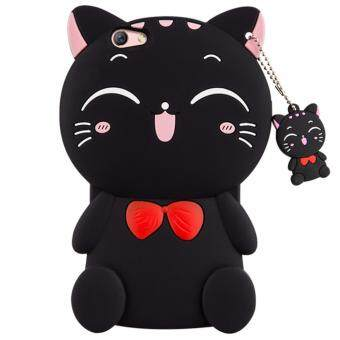Harga 3D Cute Lucky Cat Smiling Fortune Cat Soft Silicon Back Cover Case For OPPO F1S / A59