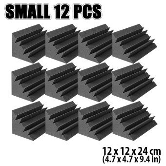 Harga New 12 pcs 12 x 12 x 24 cm Bass Trap Acoustic Foam Tile Studio Sound Absorption Treatment Panel KK1133
