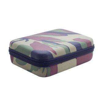 Harga Camouflage Color Waterproof Shockproof EVP Carrying Bag Storage Case for Hero 3.2.1 Camera Cam Kix Accessories - Intl