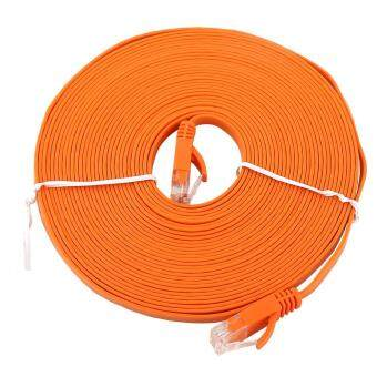 Harga RJ45 CAT6 Ethernet Network Flat LAN Cable UTP Patch Router Cables 1000M (Orange 8meters)